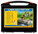 sera 04002 aqua-test box (+Cu), Koffer, Wasser testen für Fortgeschrittene pH, GH, KH, NH3/NH4, NO2,NO3, PO4, Fe und Cu - schnell, genau, professio