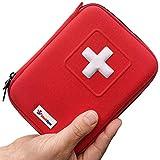 MediSpor Erste Hilfe Set - für Notfälle in der Familie - Ideal für Zuhause Auto Reisen Camping und Outdoor Aktivitäten - 100Stück in roter halbharte Tasch