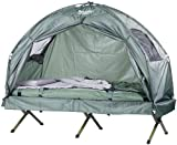 Semptec Urban Survival Technology Zelt auf Stelzen: 4in1-Zelt inklusive Schlafsack, Matratze & Campingliege, wasserdicht (Campingbett)