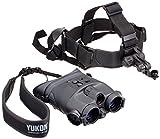 Yukon spritzwassergeschütztes binokulares Nachtsichtgerät Tracker 1x24 mit 1x Vergrößerung, Infrarotstrahler und Strativanschlussgewinde inklusive Kopfhalterung für freihändiges Beobach