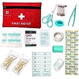 Erste-Hilfe-Kit(Verbandkasten), 60 Stück Mini Small First Aid Kit, Erste-Hilfe-Kit enthält Notfall-Folie Decke, CPR Gesichtsmaske für Haus, Fahrzeug, Reise, Büro, Arbeitsplatz, Kinderbetreuung, Wandern, Survival & Outdoor