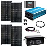 Solaranlage Autark XXL 520Wp Solar - 2000Wp AC Leistung 12V 230V - Inselanlage - Solars