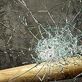 TipTopCarbon Fenster Splitterschutz Folie 200 x 152cm Sicherheitsfolie Splitterschutzfolie Einbruchschutzfolie Fensterfolie Fo