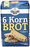 Bauckhof 6-Korn-Brot Vollkorn Demeter, 6er Pack (6 x 500 g)