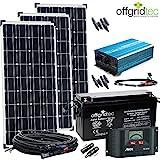 12V Solaranlage Autark XL-Master 300W Solar - 1500Wp AC Leistung 12V 230V - Inselanlage - Solars