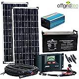 Solaranlage Autark M-Master 200W Solar - 1000W AC Leistung 12V 230V - Inselanlage - Solars