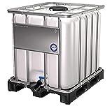 DIE BOX FABRIK IBC Container 1000 Liter NEU | auf PE-Palette | Einfüllöffnung: 225 mm | Schiebehahnventil 50mm | IBC Tank | Wassertank | Regenwasser
