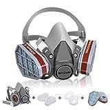 Atemschutzmaske NASUM Schutz Halbmaske für Farbspritz, Staub, Chemikalien, Schutz Geruchsminderung für Sprüh-, Sanierungs-,Lackier- und Schleifarb