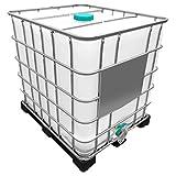 1000l IBC Wassertank GESPÜLT (Sirup) auf PE-P