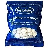 Original 200 Stück Trockentücher in Form von Tabletten, Handtuchpillen, 100% biologisch abbaubar, gepresstes Mini-Handtuch, Handtuch, Geschirrtuch, saugfähig, Reinigungstuch, RIAS, Perfecttissue …