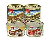 Eifeler Fleischwaren 4er Set Gulasch Variationen, 1,6kg