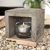ECI Candle Cube© Kleiner Teelicht Tisch-Kamin Ofen Stövchen Kerzen-Heizung Teelichtofen Heizwür