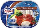 Appel Heringsfilets in Pfeffer-Creme, 10er Pack Konserven, Fisch in Pfeffercrem