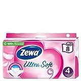 Zewa Ultra Soft Toilettenpapier 4-lagig (8 Rollen x je 150 Blatt)