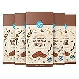 Amazon-Marke: Happy Belly Frühstückskekse mit Schokoladenstückchen und Getreide, 5-er Pack x 300g