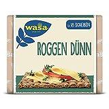 Wasa Knäckebrot Roggen Dünn – Leckeres Roggenknäckebrot, extra dünn gebacken – 12er Pack (12 x 205g)