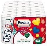 Königin von Herzen Küchenpapier | Packung mit 30 Rollen | 50 Blatt pro Rolle | große Saugfähigkeit, dick und strapazierfähig | 100 % FSC®-zertifiziertes Papier