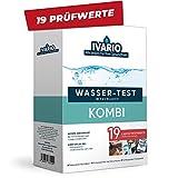 Labor-Wassertest Kombi (19-in-1) für Trinkwasser, Experten Wasseranalyse im Deutschen Fachlabor. Leitungswasser-Test mit 19 Prüfwerten - Komplettanalyse der wichtigsten Schadstoffe im Wasser