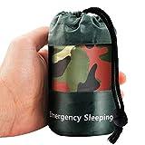 Elitlife Notfallzelt,Biwaksack Survival Schlafsack warm Outdoor Tube Zelt wasserdicht leicht hitzeabweisend Kälteschutz Ultraleicht Rettungszelt für Camping im Freien und Wandern (1 Pack - Tarnung)