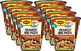 Maggi Food Travel Cup Wildwest BBQ-Pasta, Nudeln mit Rindfleisch & Kidneybohnen in süß-rauchiger Sauce, 8er Pack (8 x 60g)