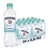 Gerolsteiner Medium / Natürliches Mineralwasser mit wenig Kohlensäure und wertvollem Calcium und Magnesium / 24 x 0,5 L PET Einweg Flasch
