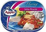 Appel Heringsfilets Salsa-Picante, 10er Pack Konserven, Fisch in pikantem Tomaten-Coc