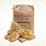 Weizenmehl Typ 550 - 25Kg (Für BROT, BRÖTCHEN, PIZZA usw)