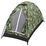 Camping Zelt Kompaktes Kuppelzelt Tragbares Tarnzelt Winddicht und wasserdicht Leichtgewicht Geeignet für 1 Personen Wanderungen im Freien Camping Backpacking Survival Trav