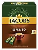 Jacobs löslicher Kaffee Espresso, 25 Instant Kaffee Sticks, 1 x 25 Geträ