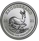 1 Unze oz Silber Krügerrand 2021 einzeln in Münzkapseln verpac