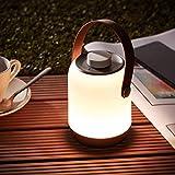 Lightbox Tischlampe Garten LED Tischleuchte Drehdimmer 12cm Höhe batteriebetrieben USB-Anschluss IP-Schutzart 44 spritzwassergeschützt warmweißes Licht 1,58W, 120lm Kunststoff, weiß