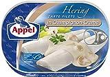 Appel Heringsfilets in Champignon-Creme, 10er Pack Konserven, Fisch in Champignoncrem