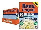 Ben's Original Basmati Reis, 10 Minuten Kochbeutel, 6 Packungen (6 x 1kg)