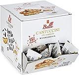 Belli Cantuccini alle mandorle (1x 600g) | 60x Kekse pro Box | Gebäck mit Mandeln aus Italien | einzeln verpackte Kekse in einer praktischen Box