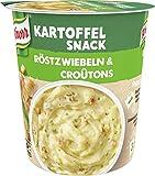 Knorr Snack Bar Kartoffelpüree mit Röstzwiebel & Croutons, 8er Pack (8 x 53 g)