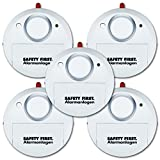 kh security Glasbruchalarm, 5-er Set, weiß, 100161set5