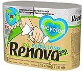 Renova Küchenrollen, 100 % recycelbar, 2 extra große Rollen, 100 % recycelt und in Papier verpackt, ohne Plastik, 5 Standardro