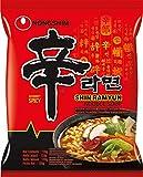 Nong Shim Instantnudeln Shin Ramyun – Koreanische Ramen Suppe scharf - schnelle Zubereitung – 20er Vorteilspack à 120g