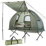 Semptec Urban Survival Technology Zeltliege: 4in1-Zelt mit Feldbett, Winter-Schlafsack, Matratze und Sonnenschutz (Bettzelt)