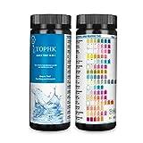 TOPHK Wassertester Trinkwasser, Upgrade 16 IN 1 Wasserteststreifen Trinkwasser mit 100 Stück Teststreifen für runnen und Leitungs Wasserqualitätstest zu erkennen pH, Wasserhärte,Blei, Nitrat,Brom