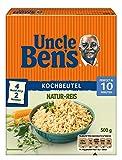 Uncle Ben's Natur Reis, 10 Minuten Kochbeutel, 9 Packungen (9 x 500g)