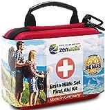 Erste Hilfe Set Outdoor, Fahrrad, Wandern Zubehör für die Erstversorgung der häufigsten Notfälle - First Aid Kit für Deine Sicherh