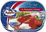 Appel Heringsfilets in Tomaten-Creme, 10er Pack Konserven, Fisch in Tomatencrem