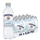 Gerolsteiner Sprudel / Natürliches Mineralwasser mit viel Kohlensäure und wertvollem Calcium und Magnesium / 24 x 0,5 L PET Einweg Flasch