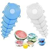 Silikondeckel,12 Dehnbare Silikondeckel, Silikondeckel BPA Frei, Universal Silikondeckel für Schüsseln, Becher, Dosen, Obs