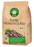 CLASEN BIO Bunte Hülsenfrüchte, Fest- und mehligkochende Bohnen und Linsen, Reich an Eiweiß, Ballaststoffen & Eisen - 500 g