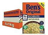 Ben's Original Natur Reis, 10-Minuten Kochbeutel, 6 Packungen (6 x 1kg)