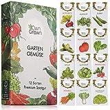 Gemüse Samen Set von OwnGrown, 12 Sorten Premium Gemüse Saatgut, Gemüse anbauen im Garten oder Hochbeet, Gemüsesamen Sortiment im praktischen 12er Gemüses