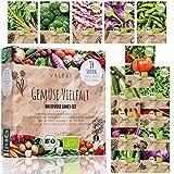 BIO Gemüse Samen Set - 14 Sorten Gemüsesamen aus biologischem Anbau, samenfestes Gemüse Saatgut, Bio Gemüsesamen Set für Küche, Balkon und Garten, 14er Pflanzensamen S