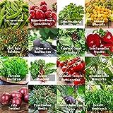 Samen Gemüse Set'indoor-Mix' - perfektes Saatgut (100% Natursamen) für Balkon, Gewächshaus, Wohnung, Terasse, Fensterbank - nahezu 100% Keimr
